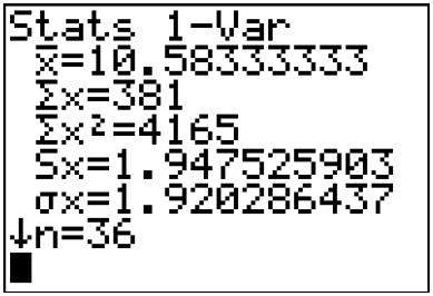 Exercice, statistique, moyenne, variance, calculette, écart-type, première