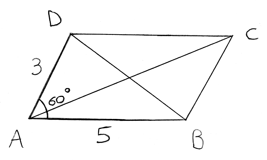 Al-Kashi, produit scalaire, angles, parallélogramme