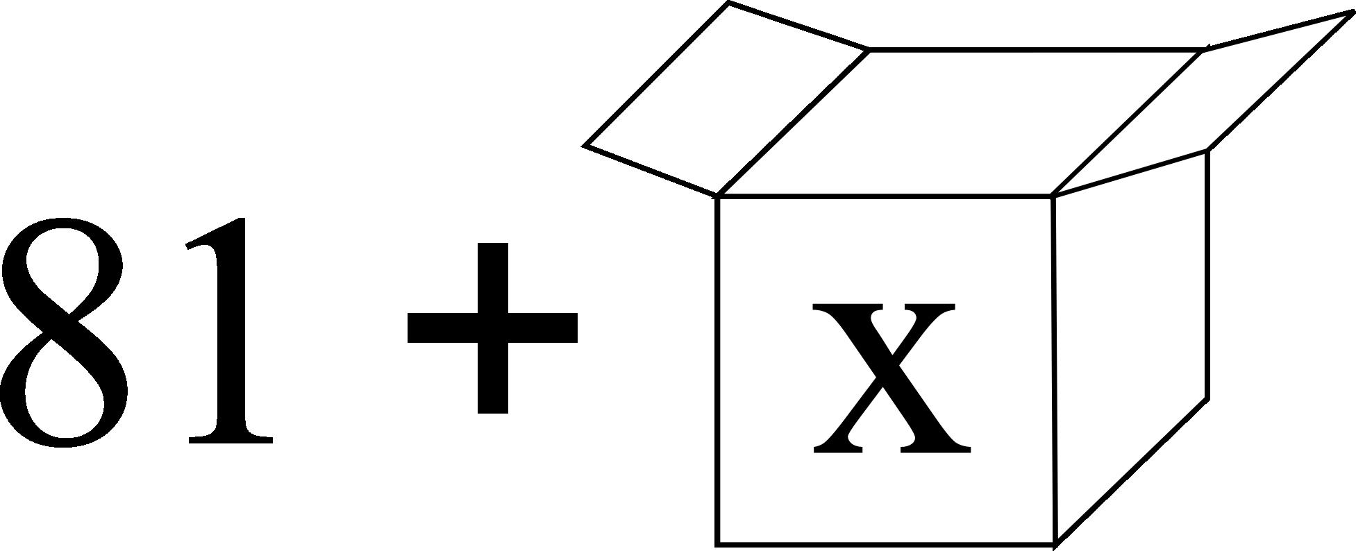 Addition de nombre connu et variable inconnue