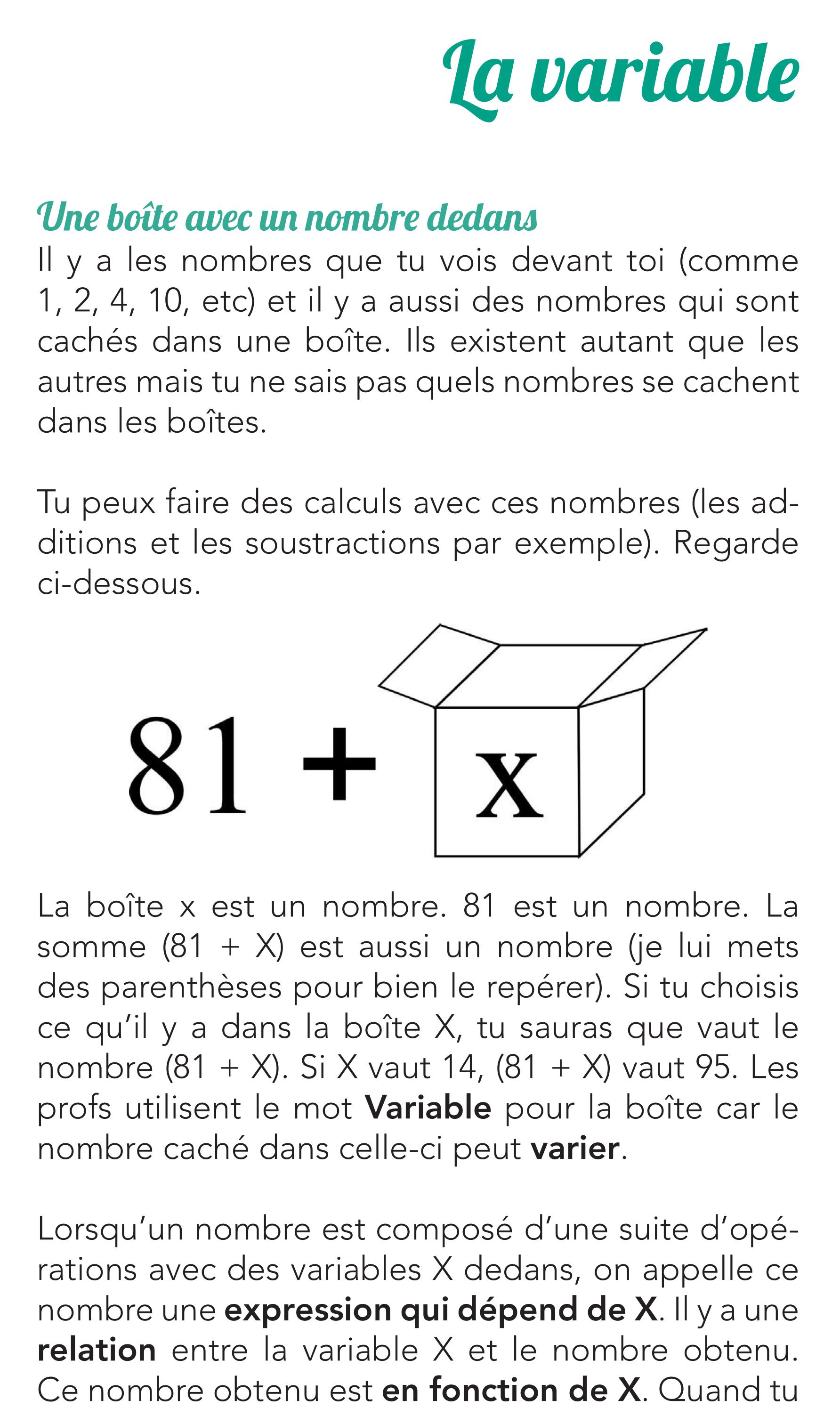 Livre de maths de seconde - La variable - Page 14