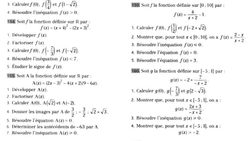 Refaire les exercices de spécialité maths de première du professeur